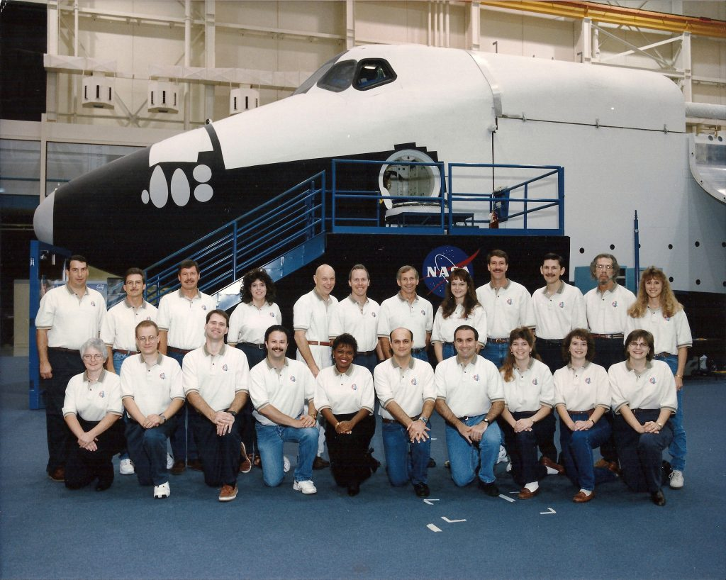 Blog Faulty Circuitbreaker Box On The Orbiting Lab Maneuver Marks Sts 80 Training Team And Flight Crew Front Row From Left Jean Gill Mike Jensen Wes Penney Michael Grabois Jackie Prewitt Henry Lampazzi